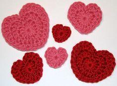 Hearts (3 sizes) - via @Craftsy