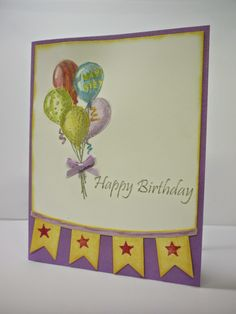 Birthday Sketch set by Fun Stampers Journey  I Wanna Stamp! by Becky Lemire