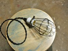 Snake Head Vintage - Antique Brass Wire Bulb Cage, Clamp On Lamp Guard, $7.29 (http://www.snakeheadvintage.com/antique-brass-wire-bulb-cage-clamp-on-lamp-guard/)