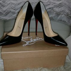 Christian Loubuiton So Kate Black pumps 36.5 Black leather slim heel, Worn only 2 times, scuff on bottom soles, tags, box and dust bag included Christian Louboutin Shoes Heels