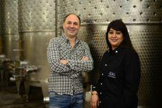 Winemaker Andrea Valentinuuzi and Shaambhavi Hingorani -SDU winery
