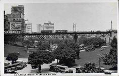 1930 - Viaduto do Chá - Saldanha em Construção - Gustavo Prugner - Ebay