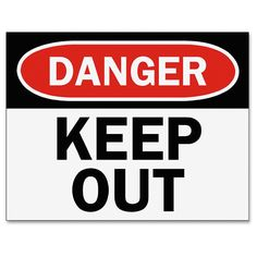 Tarifold Safety Sign Inserts-Danger Keep Out -