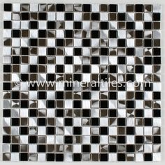 Mineral Tiles - Stainless Steel Tile Black Blend, $18.85 (http://www.mineraltiles.com/stainless-steel-tile-black-blend/)