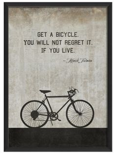 Bicycle by Twain (White) - man cave art