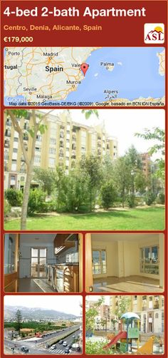 Apartment for Sale in Centro, Denia, Alicante, Spain with 4 bedrooms, 2 bathrooms - A Spanish Life Alicante Spain, Apartment Communities, Gas Stove, Murcia, Apartments For Sale, Seville, Malaga, Storage Spaces, Bathroom