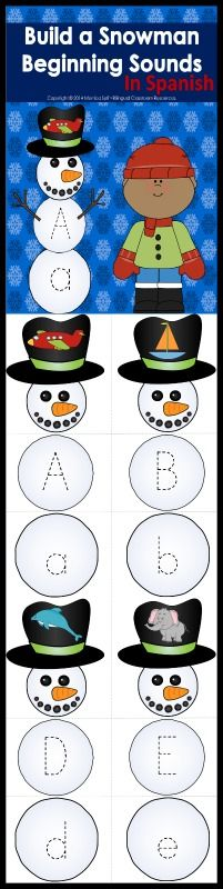 Each snowman is made up of three pieces. Students match the uppercase and lowercase letters to the beginning sound picture. Once they put together their snowmen your students can practice tracing the letters!  These snowmen are a great addition to any literacy center!