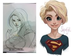 supergirl sketch (artist unknown)