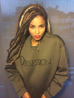 Ciara in Calvin Klein #Obsession #CK #Dreads