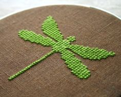 Dragonfly - modern cross stitch (may incorporate pearls etc)