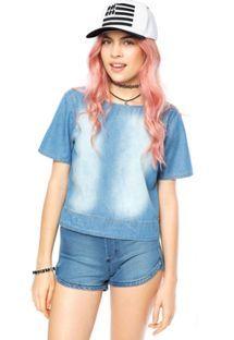Blusa Jeans Colcci Ampla Azul