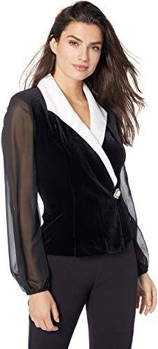 Multiple Styles Petite and Regular Sizes Alex Evenings Womens Velvet Blouse Top