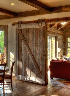 Porta scorrevole interno muro in legno barn Designxtutti | Closet ...
