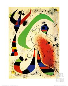 Night Art Print by Joan Miró at Art.co.uk