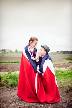 precious Norwegian kids celebrating the 17th of May: their national day! i love the little boys hat!