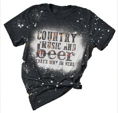 Country Music Shirts, Country Girl Shirts, Country Sayings, Cute Country Outfits, Southern Outfits, Bleach Shirt Diy, Diy Shirt, Vinyl Shirts, Custom Shirts