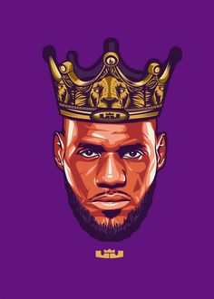 Lebron James by Carmela Embanecido Lebron James Poster, Lebron James Lakers, King Lebron James, Lebron James Wallpapers, Nba Wallpapers, Lebron James Tattoos, Lakers Wallpaper, Kobe Bryant Pictures, Nba Pictures