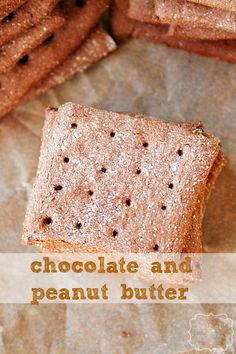 chocolate peanut butter graham crackers made using Greek yogurt ~ Heather's French Press