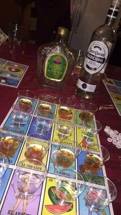 Lotería with shots (mexican fiesta party games) 21st Birthday Games, 21st Bday Ideas, Mexican Birthday Parties, 18th Birthday Party, Mexican Party, Mexican Drinks, 21st Birthday Drinks, Birthday Party Ideas For Adults, Mexican Night