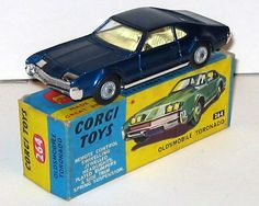 I loved this 1966 Toronado by Corgi. A small silver cog wheel lifted and lowered the headlights.