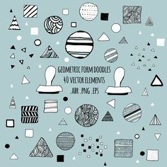 ♥ geometric forms - vector design elements - hand drawn photoshop brushes LitouMer ♥ #handdrawn #doodle #simplicity #design #triangle #circle #square #png #digital #stamps #photoshop #brushes #clipart #digistamps #vector #illustration #graphic #design