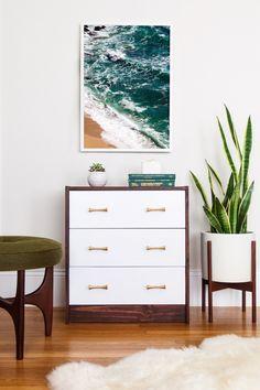 Simple RAST Dresser Upgrade. Midcentury beach decor.