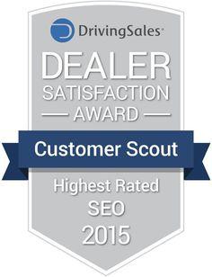 Customer Scout SEO Driving Sales Dealer Award 2015 Automotive. SEO for auto dealers near Miami, Florida (FL)