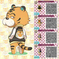 Tiger appreciation!! More here / Animal Crossing QR Code blog