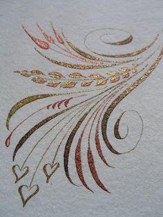 A Place To Flourish: Flourish Friday - Verzierungen Ideen Flourish Calligraphy, Calligraphy Drawing, Copperplate Calligraphy, Calligraphy Alphabet, Modern Calligraphy, Penmanship, Islamic Calligraphy, Caligraphy, Caligrafia Copperplate