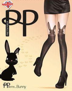 d58224de2 Pretty Polly  Pretty Bunny  Mock Suspender Tights. £8.00 Fashion Tights