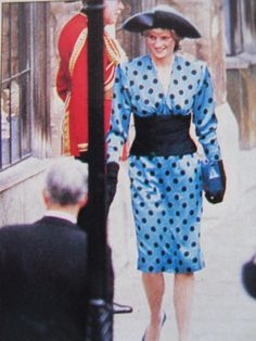 July 23. 1986: HRH Diana, Princess of Wales attending the wedding of Prince Andrew to Sarah Ferguson.