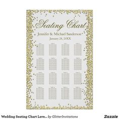 Wedding Seating Chart Lavender Plum Poster