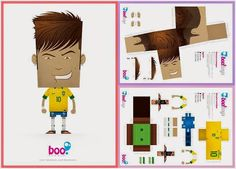 PAPERMAU: Neymar Jr. - Brazilian Soccer Player Paper Toy - by Boo Studios