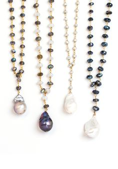 Short roundel stone necklace with baroque pearl drop pendant. Chain options are mystic labradorite, moonstone/labradorite, white sapphire and spinel. Pearl options are white or grey. Ruby And Diamond Necklace, Baroque Pearl Necklace, Ruby Necklace, Baroque Pearls, Stone Necklace, Diamond Pendant, Pearl Jewelry, Wedding Jewelry, Fine Jewelry