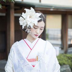 Korean Hairstyles Women, Asian Men Hairstyle, Bride Hairstyles, Cute Hairstyles, Japanese Hairstyles, Asian Hairstyles, Wedding Makeup, Wedding Bride, Traditional Wedding Attire