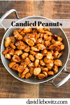 The best recipe, and easiest, for making salted candied peanuts at home. Just stir and enjoy! Candied Peanuts Recipe, Candied Nuts, Butter Toffee Peanuts Recipe, Peanut Recipes, Candy Recipes, Snack Recipes, Popcorn Recipes, Picnic Recipes, Roasted Peanuts