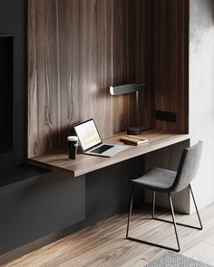 Home Office Design, Home Office Decor, House Design, Home Decor, Chair Design, Furniture Design, Study Room Decor, Office Nook, Bedroom Desk