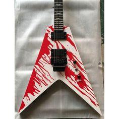 Custom Shop Dan Jocobs Flying V ESP LTD Blood Spatter Guitar