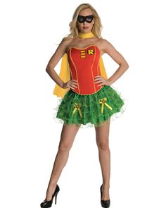 Robin Corset Womens Costume Perfect for a Superhero party