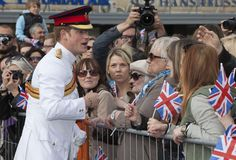 Prince Harry meets locals in Freedom Square on May 16, 2014 in Tallinn, Estonia