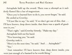 Good Omens. Love the Crowley/Aziraphale bromance. This is one of my favorite books.
