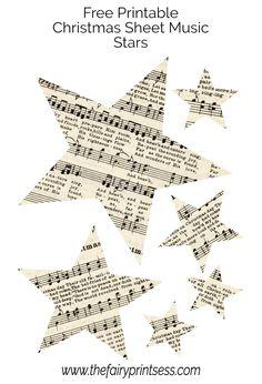 Music Christmas Ornaments, Christmas Sheet Music, Paper Ornaments, Plaid Christmas, Vintage Christmas, Christmas Decor, Christmas Ideas, Print Sheet Music, Printable Sheet Music