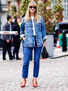 11 Ways to Do Double Denim and Not Feel Like a Fool via @WhoWhatWearUK
