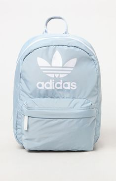 adidas brings a colorful piece to your back to school wardrobe with the Gray & White National Compact Backpack. This essential backpack comes in a statement mak Cheap School Backpacks, Cute Mini Backpacks, Trendy Backpacks, Girl Backpacks, Leather Backpacks, Leather Bags, Addidas Backpack, Adidas School Backpack, Mochila Adidas