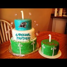 Carolina Panthers Football Cake and Smash Cake