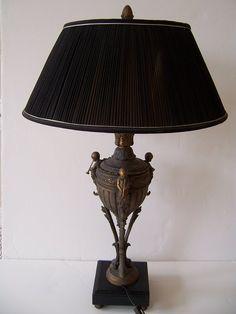 Элегантный Конец 19 / начале 20 века Бронзовый светильник