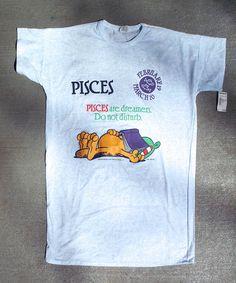 Vintage Applause Garfield Pisces Nightshirt 1978 Montgomery Ward