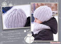 """Комплект для мальчика шапка и снуд спицами """"City""""))) + описание)))"""