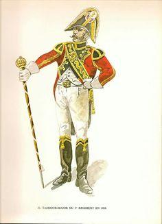 Tamburo maggiore del 3 rgt. fanteria della confederazione elvetica