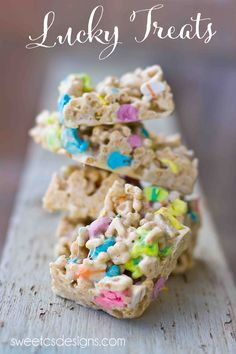 Rice Krispie treats with lucky charms!
